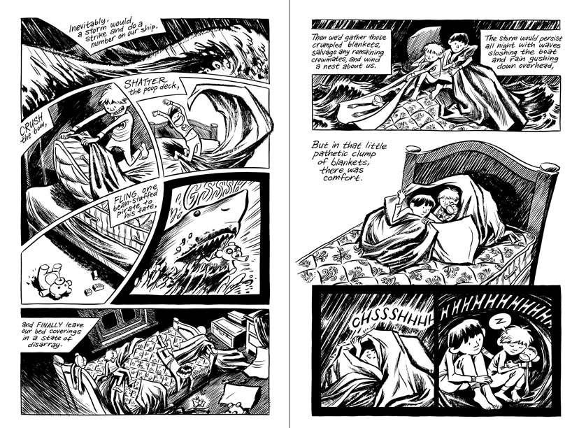 blankets craig thompson Craig thompson's blankets is a big, hefty, slab of a graphic novel -- the kind of book that requires you to develop strategies for holding it up when you're reading in bed or draping yourself over the edge of the couch.